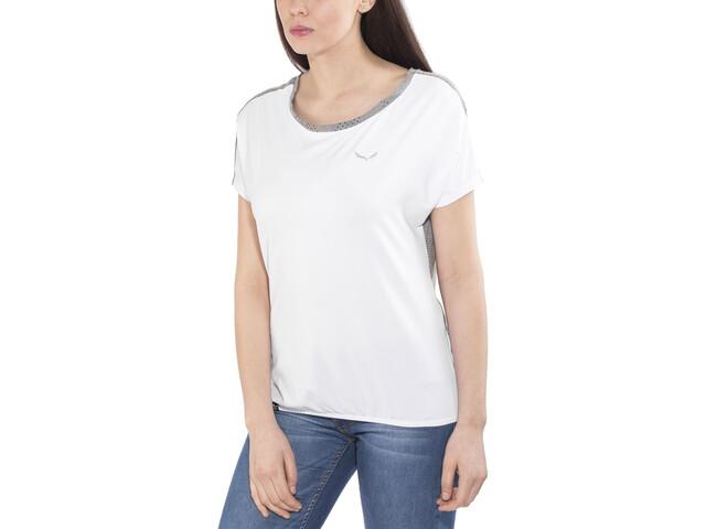 SALEWA Puez Hybrid Dry Lyhythihainen T-paita Naiset, white/0538